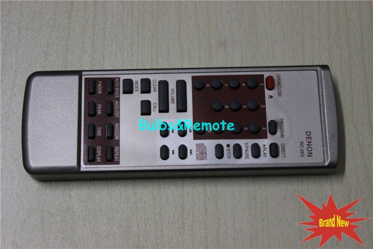 For DENON RC-253 Audio CD AUDIO DVD REMOTE CONTROL