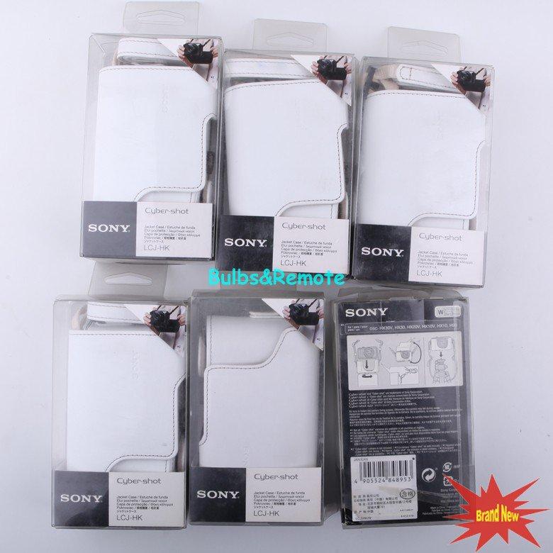 LCJ-HK W White Jacket case for SONY DSC-HX7 DSC-H9 DSC-H90 DSC-HX10 DSC-HX20 Video Digital cameras