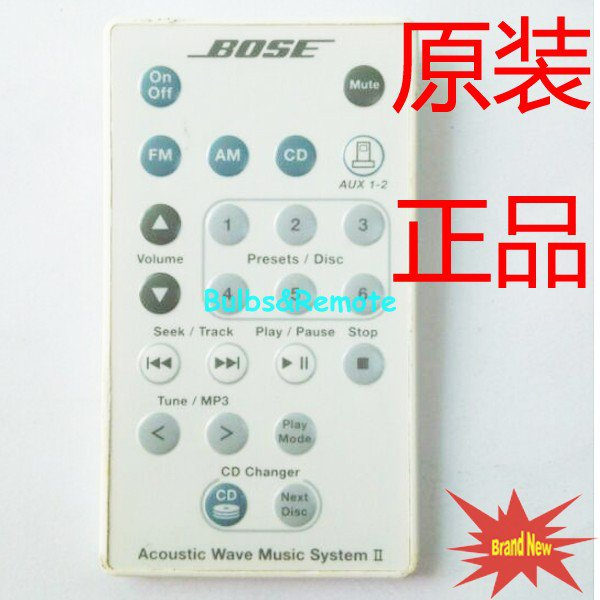 For Bose Acoustic Wave Music System II Remote Control White Color