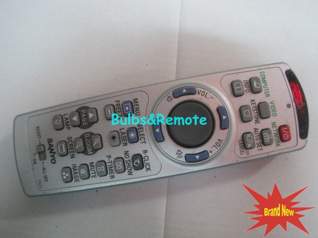 For SANYO PLC-XT3500 PLC-XF47 PLC-XF4700 LCD PROJECTOR REMOTE CONTROL