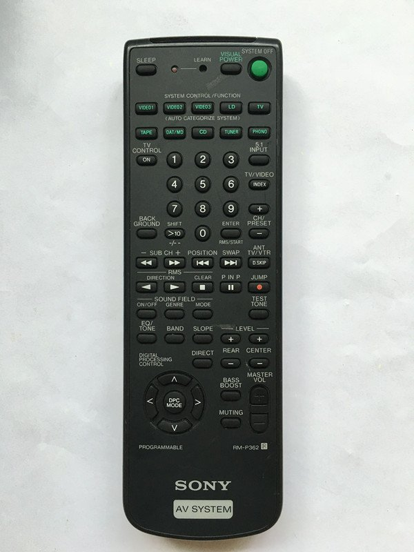 For Sony RM-P362 STR-D550Z STR-D65 STR-D650Z Audio/Video Receiver Remote Control