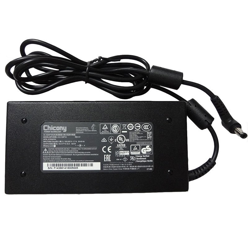 For Genuine Chicony 120W 19.5V A12-120P1A MSI GS70 2OD-001US AC Adapter Power Supply