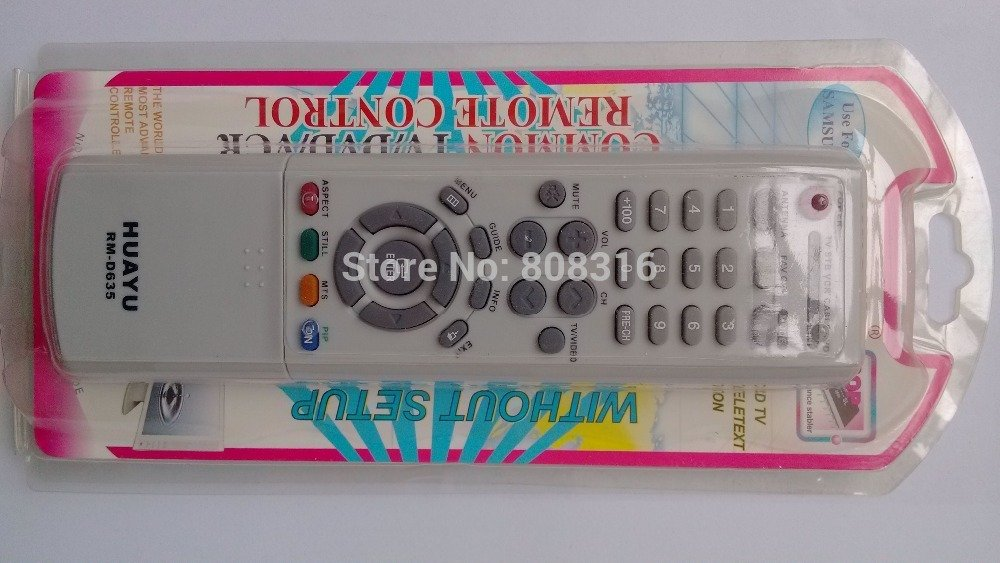 FOR SAMSUNG RM-D635 LCD / LED / TV / VCR / DVD REMOTE CONTROL