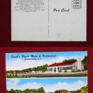 Greensboro NC Smiths Ranch Motel & Restaurant View Old VINTAGE POSTCARD PC