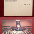 UNITED NATIONS ASSEMBLY HALL NYC PHOTO VINTAGE POSTCARD