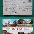 GREETINGS FROM TOPEKA KANSAS CITY VIEW VINTAGE POSTCARD