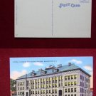Manchester NH Central Classic High School View Old Linen VINTAGE POSTCARD PC