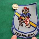 "USN US NAVY TOM CAT TOMCAT ENGARDE BABY SWORD 5"" PATCH"