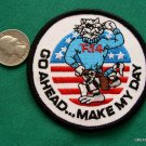 TOM CAT F14 GO AHEAD MAKE MY DAY NAVY JET SHIRT PATCH