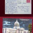 State Capitol Missouri Jefferson City Moonlight @Night View Old VINTAGE POSTCARD