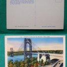 NYC GEORGE WASHINGTON BRIDGE NY OLD VINTAGE POSTCARD