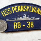 USS PENNSYLVANIA PA BB 38 USN NAVY MILITARY HAT PATCH