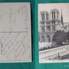 NOTRE DAME PARIS FRANCE VIEW 1919 OLD VINTAGE POSTCARD