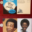 Las Vegas Hilton Bill Cosby Natalie Cole Advertising Old JUMBO VINTAGE POSTCARD