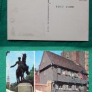 POSTCARD OLD VINTAGE ONE IF BY LAND PAUL REVERE HOUSE
