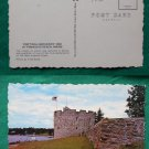 POSTCARD VINTAGE FORT WILLIAM HENRY PEMAQUID BEACH ME
