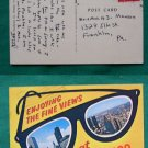 FINE VIEWS SUNGLASSES @ CHICAGO 1966 VINTAGE POSTCARD