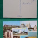 CHICAGO CITY MULTI VIEW GREETINGS OLD VINTAGE POSTCARD