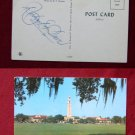 LSU CAMPUS BELL TOWER PHOTO SIGNED BY? VINTAGE POSTCARD