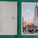 WOOLWORTH & POST OFFICE OLD NYC VIEW VINTAGE POSTCARD
