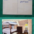 KENDALL HOLMES HOUSE BEDROOM PLYMOUTH MA OLD  POSTCARD