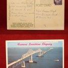1961 Sunshine Skyway Bridge Tampa Bay St Pete Old VINTAGE Photo View POSTCARD PC