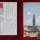 Hotel Cleveland Ohio OH Terminal Tower 1952 Stamp Old VINTAGE POSTCARD PC