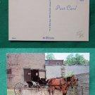 AMISH HORSE & BUGGY PARKING LOT GOSHEN IN OLD  POSTCARD