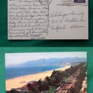 SANTA MONICA CA BEACH VIEW 1960 STAMP VINTAGE POSTCARD