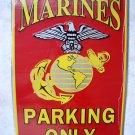 MARINES USMC EAGLE ANCHOR SEAL PARKING ONLY METAL SIGN