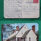 RALEIGH TAVERN WILLIAMSBURG 1953 OLD VINTAGE POSTCARD