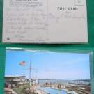 HARBORSIDE INN POOL EDGARTOWN MA OLD VINTAGE POSTCARD