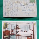 WASHINGTONS BEDROOM VALLEY FORGE PA OLD 1946 POSTCARD
