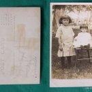 PYLE SISTERS GIRLS OLD VINTAGE RPPC REAL PHOTO POSTCARD