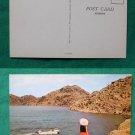 BOATING ON LAKE ALTUS QUARTZ MT STATE PARK OLD POSTCARD