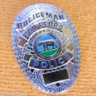 SAN PEDRO CA CALIFORNIA POLICEMAN MINI SHIRT LAPEL POLICE BADGE PIN BEAR LOGO 1""