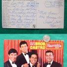 1964 BROTHERS CASTRO HARRAHS CASINO OLD JUMBO POSTCARD
