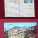 Ouray CO Colorado Campground Air Photo View Old VINTAGE POSTCARD PC