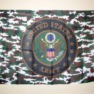 CAMO CAMOUFLAGE US ARMY EAGLE SEAL LARGE FLAG NEW
