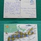 1974 GREETINGS NOVA SCOTIA ISLAND MAP VINTAGE POSTCARD