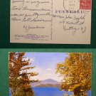 GREETINGS FROM ONEONTA NY 1954 STAMP VINTAGE POSTCARD