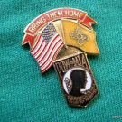 NEW MEXICO BRING THEM HOME POW MIA STATE FLAG LAPEL PIN