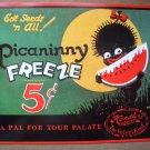 Black Negro African American Advertising Watermelon Hendlers Ice Cream Sign