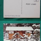 JAPANESE GARDEN IN WINTER PORTLAND OR VINTAGE POSTCARD