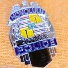 HONOLULU HAWAII HI PROUD SILVER EAGLE MINI POLICE SHIRT LAPEL BADGE SHIELD PIN