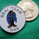 NAVY DIVE SEALS SEAL TEAM ONE 1 JACKET LAPEL PIN NICE !
