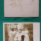 BIG FAMILY EARLY RPPC REAL PHOTO VINTAGE POSTCARD