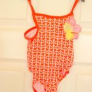 Baby Girls Swimsuit 12 to 18 months Boat Anchor Pattern 1 Piece Bathing Suit