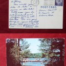 Boston University Sargent Camp Peterboro NH Photo View Old VINTAGE POSTCARD PC