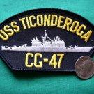 "USS TICONDEROGA CG-47 US NAVY SHIP 5"" MILITARY PATCH"